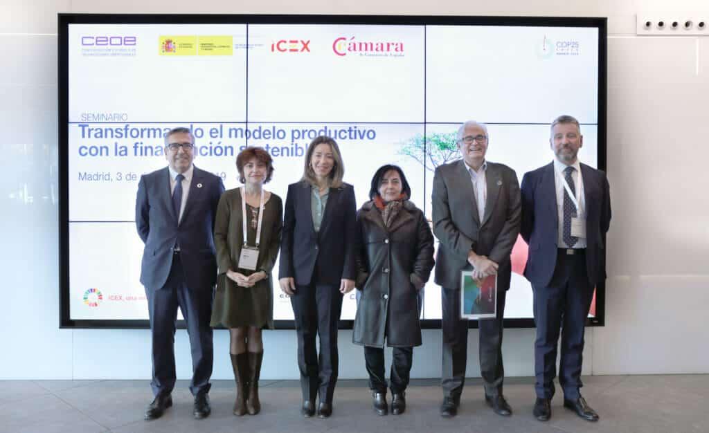Seminario ICEX COP25 financiación sostenible