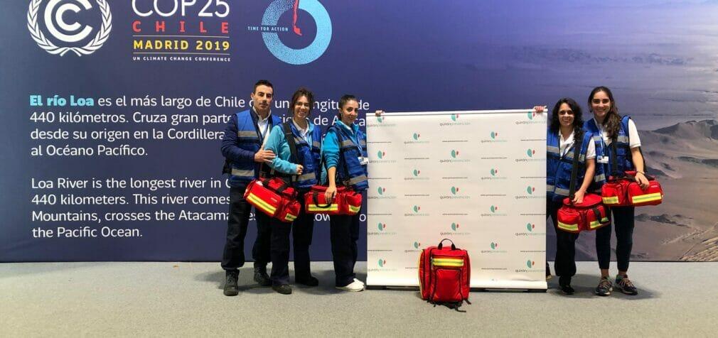 Quirónprevención cuida de la salud de los asistentes de la COP25