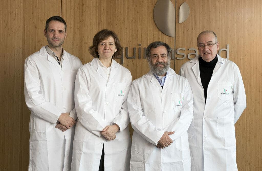 Equipo que lidera el Centro de Prontoterapia de Quirónsalud en Madrid.