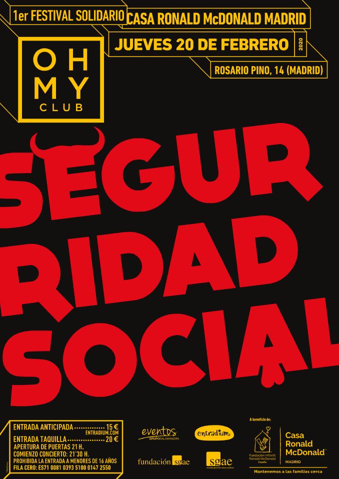 Cartel Concierto Seguridad Social en Madrid
