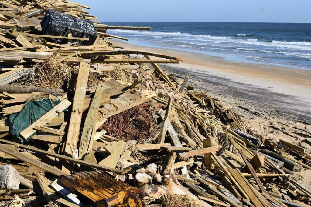 desastres ocasionados por un temporal.