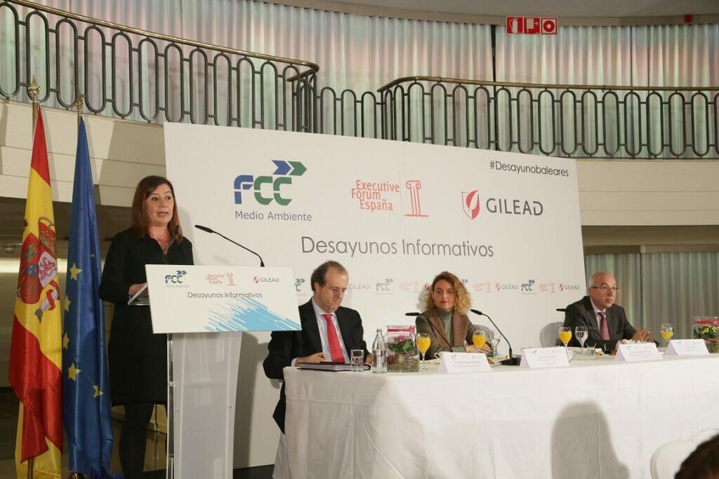 Francina Armengol pide reformar el sistema de financiación autónomica en un desayuno de Executive Forum.