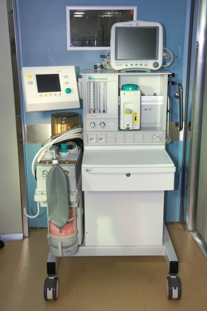 maquinas de un hospital