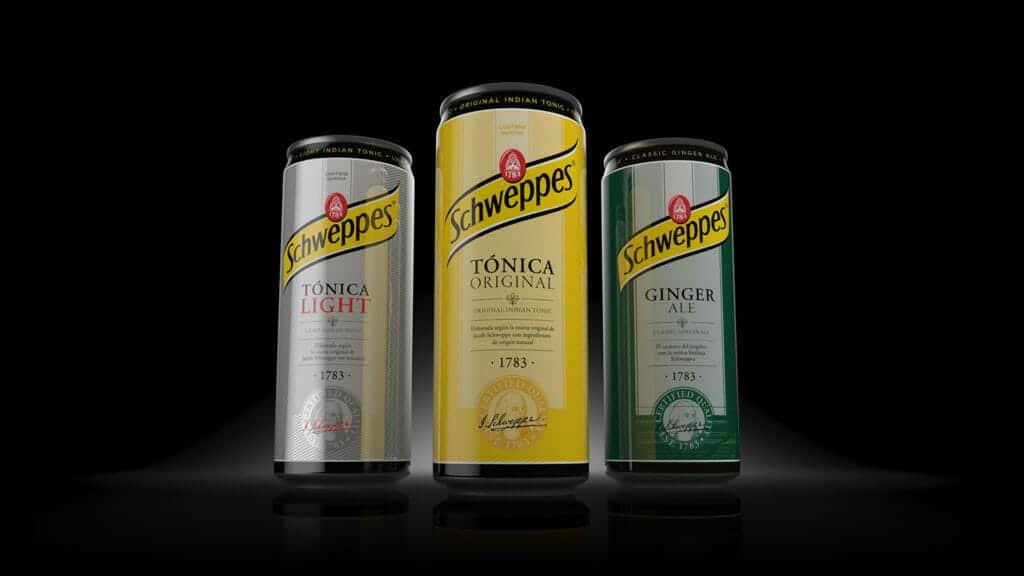 packaging de Tónica Schweppes de Ntity.
