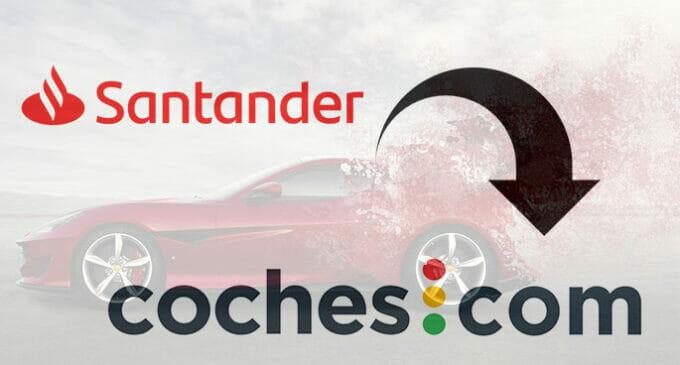 Santander se hace con el portal coches.com (más de tres millones de usuarios al mes)