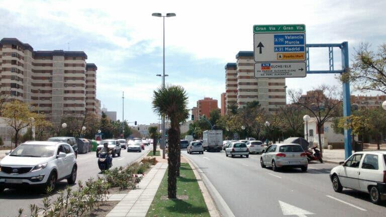 tráfico en Alicante