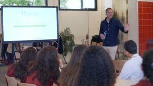 Alumnos Colegio Santa María la Blanca en el programa Stay Healthy
