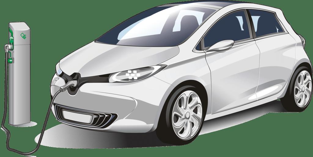cargando el coche eléctrico