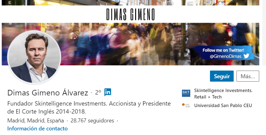 Perfil Dimas Gimeno - LinkedIn