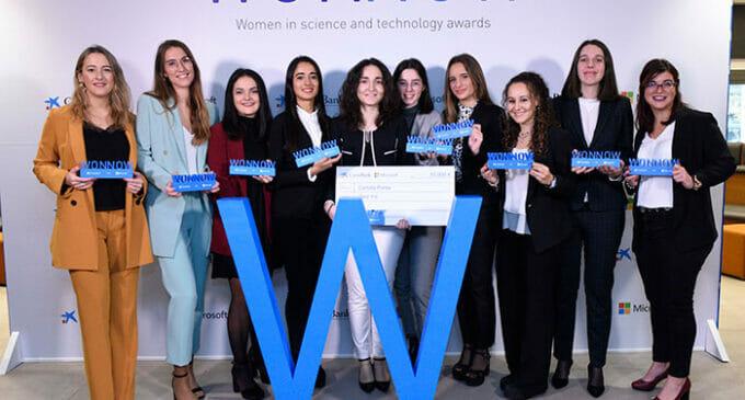 III Premios WONNOW de CaixaBank y Microsoft para las estudiantes de grados STEM