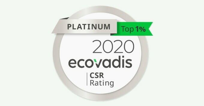 medalla de platino de ecovadis