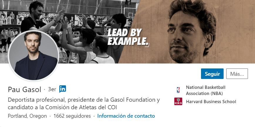 perfil Pau Gasol - LinkedIn