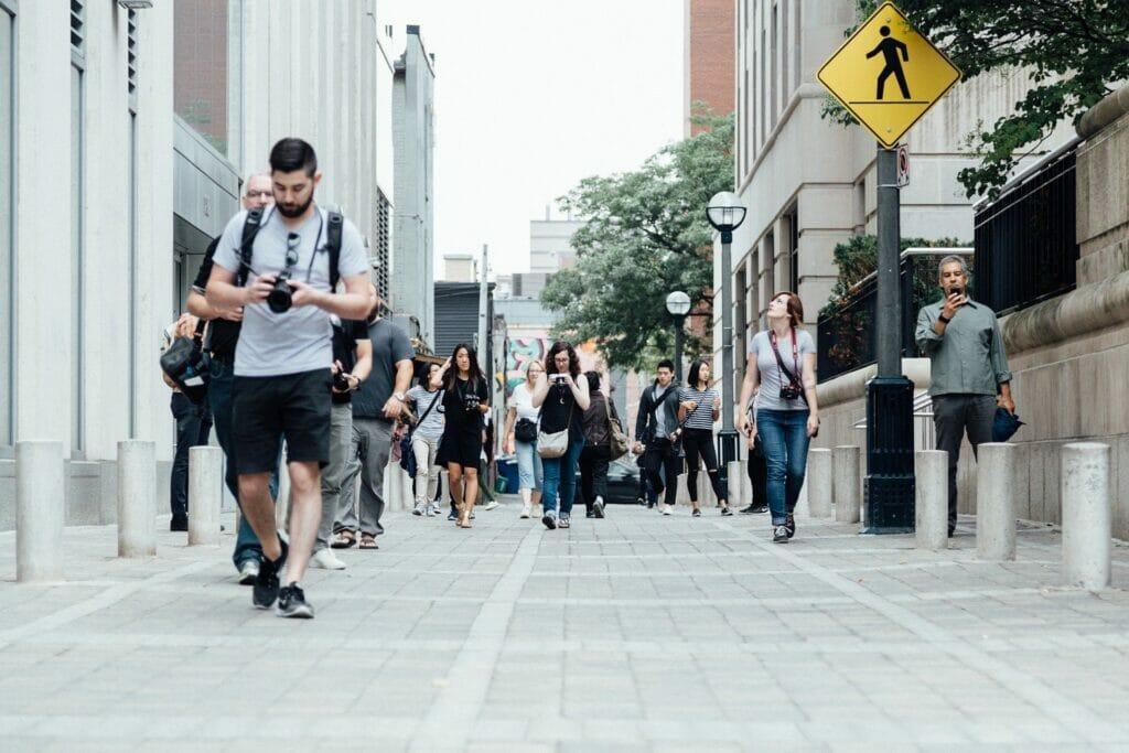 turistas en la ciudad