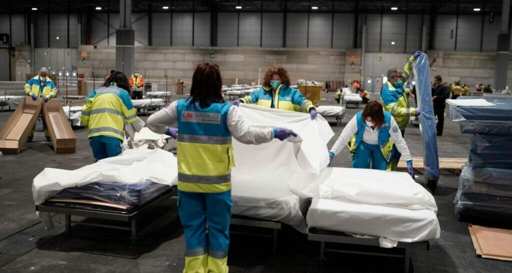 hospital de campaña en IFEMA, Madrid