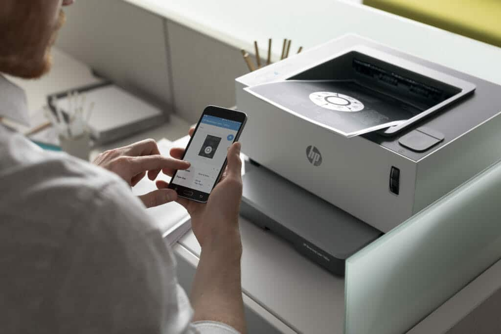HP Neverstop y HP Smart App for mobile