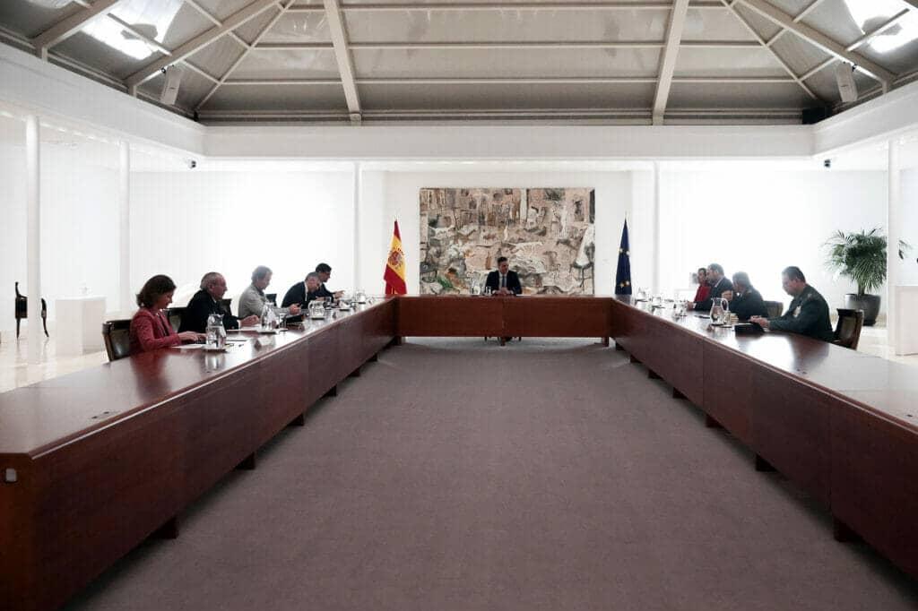 Reunión en La Moncloa del Comité de expertos del Covid-19.