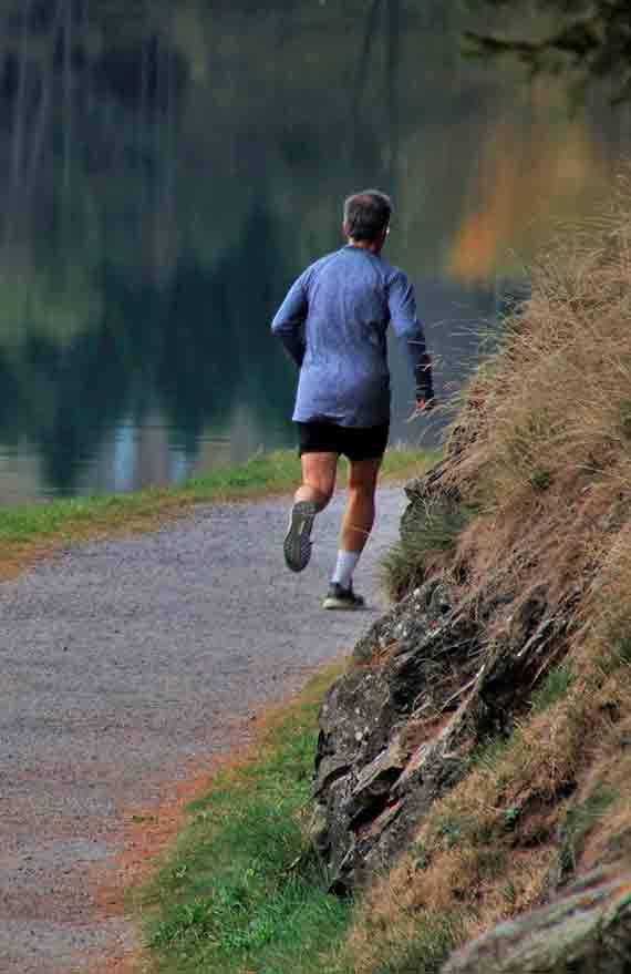Correr es bueno para mejorar la salud mental.