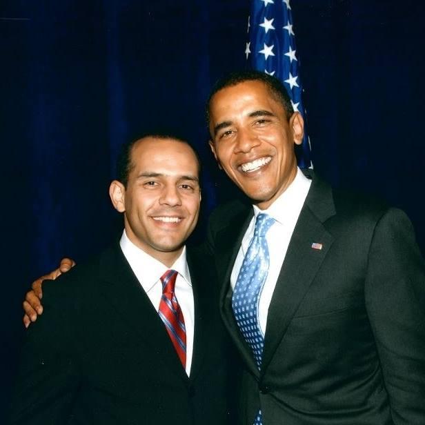 Juan Verde con Barack Obama
