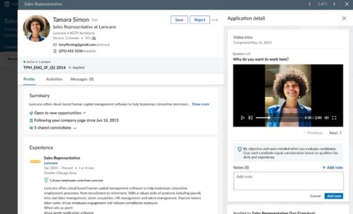 LinkedIn prueba la presentación en vídeo para la búsqueda de candidatos