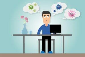 trabajar en casa debido al coronavirus