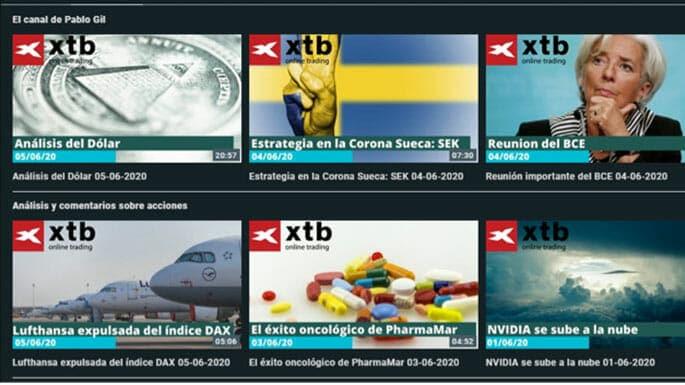 Videos semanales de XTB para comentar la actualidad de los mercados financieros
