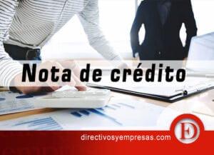 como hacer nota-de-credito