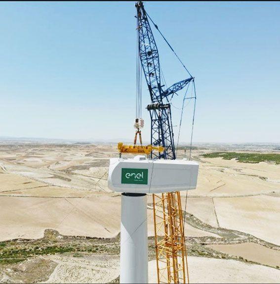 montaje-parque-eólico-Enel-Green-Power