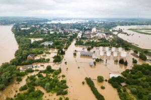 inundaciones propias del efecto del cambio climático