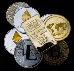 oro y criptomonedas