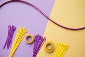 organización de cables