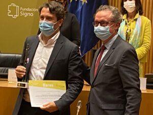 Dr Javier Arcos premios Fundación Signo